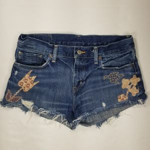 Denim And Supply Boyfriend Cutoff Denim Shorts 29